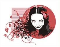 mulher de sorriso ilustração do vetor