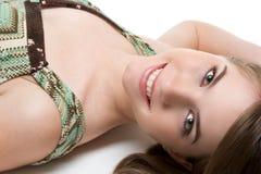Mulher de sorriso Imagem de Stock Royalty Free