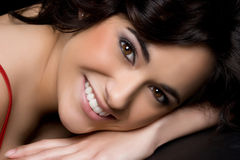 Mulher de sorriso Imagem de Stock