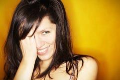 Mulher de sorriso bonita imagem de stock royalty free