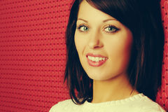 Mulher de sorriso bonita Imagens de Stock Royalty Free