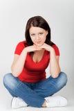 Mulher de sorriso bonita nova Fotografia de Stock