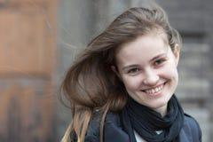 Mulher de sorriso de encantamento Fotos de Stock Royalty Free