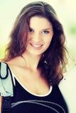 Mulher de sorriso do estudante imagens de stock royalty free