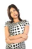 Mulher de sorriso do operador em um centro de chamadas Imagens de Stock Royalty Free