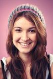 Mulher de sorriso do retrato fotografia de stock royalty free