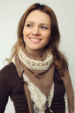 Mulher de sorriso - face bonita Fotografia de Stock