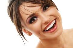 Mulher de sorriso feliz fotografia de stock royalty free