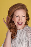 Mulher de sorriso feliz Fotos de Stock