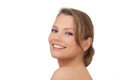 A mulher de sorriso nova fotos de stock