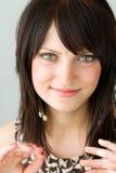 Mulher de sorriso nova Imagem de Stock