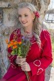 Mulher de sorriso nova Imagem de Stock Royalty Free