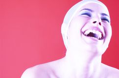 Mulher de sorriso radiante.   Fotografia de Stock