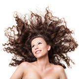 Mulher de sorriso 'sexy' com cabelo perfeito imagem de stock royalty free