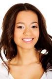 Mulher de sorriso toothy bonita Imagens de Stock