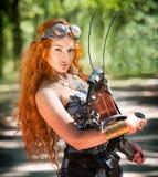 Mulher de Steampunk fotos de stock royalty free