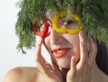 Mulher de Veg Imagem de Stock