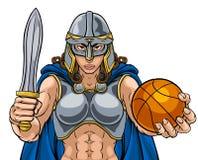 Mulher de Viking Celtic Knight Basketball Warrior ilustração stock