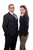 Mulher de vista séria do homem de negócios e de negócio Imagem de Stock Royalty Free