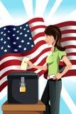 Mulher de votação Fotos de Stock
