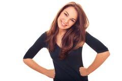 Mulher delicada bonita feliz Fotografia de Stock Royalty Free