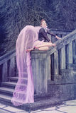 Mulher denominada gótico bonita, romântica fotos de stock royalty free