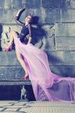 Mulher denominada gótico bonita, romântica imagens de stock