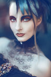 Mulher denominada gótico bonita, romântica imagem de stock