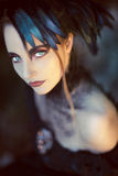 Mulher denominada gótico bonita, romântica Foto de Stock