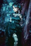Mulher denominada gótico bonita, romântica foto de stock royalty free