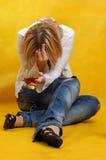 Mulher deprimida Foto de Stock Royalty Free