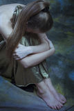 Mulher deprimida nova Fotografia de Stock Royalty Free
