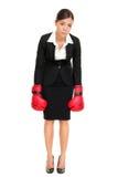 Mulher derrotada do vencido - conceito do negócio Imagem de Stock