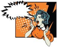 Mulher desesperada - ilustração retro do clipart Imagens de Stock