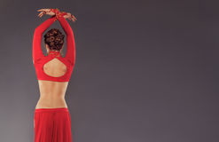 Mulher desportiva lindo na roupa vermelha Imagem de Stock Royalty Free