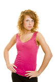 Mulher determinada Fotos de Stock