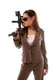 Mulher do agente secreto Fotografia de Stock