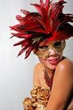Mulher do americano africano na máscara imagem de stock royalty free