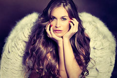 Mulher do anjo Foto de Stock Royalty Free