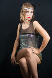 mulher do art nouveau 20s Imagens de Stock