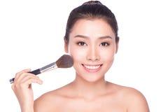 Mulher do asiático da composição da beleza Fotografia de Stock Royalty Free