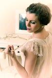 Mulher do boudoir dos anos 20 Imagens de Stock