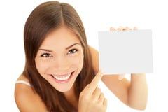 Mulher do cartão do presente Foto de Stock Royalty Free