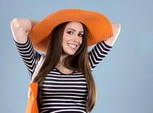 Mulher do caucasian do verão foto de stock