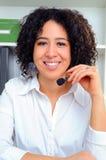 Mulher do centro de chamadas Foto de Stock