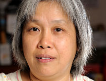 Mulher do chinês de Middleage fotos de stock royalty free