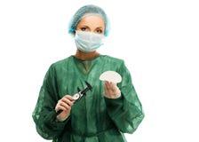 Mulher do cirurgião plástico imagens de stock royalty free