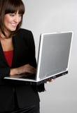 Mulher do computador imagem de stock