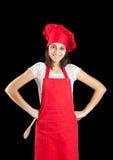 Mulher do cozinheiro chefe Fotos de Stock