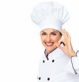 Mulher do cozinheiro chefe. fotografia de stock